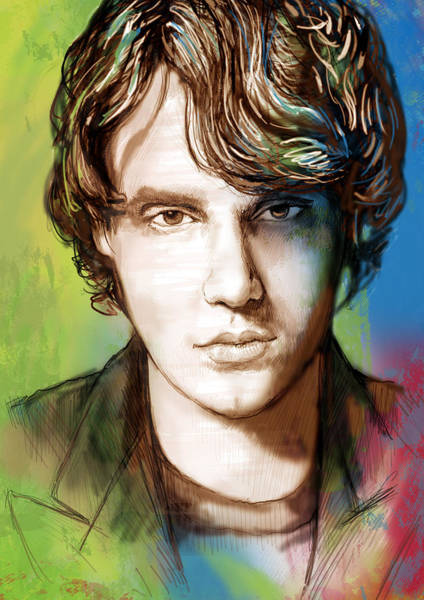 Attending Wall Art - Drawing - John Mayer Stylised Pop Art Drawing Potrait Poser by Kim Wang