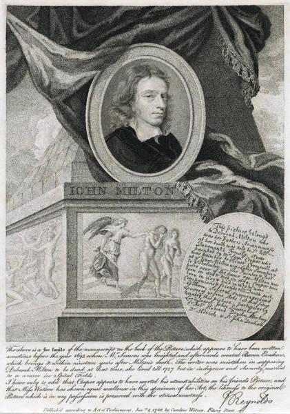 Wall Art - Photograph - John Milton, English Poet by Folger Shakespeare Library