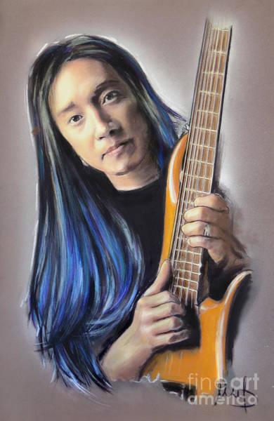 Bass Player Wall Art - Mixed Media - John Myung by Melanie D
