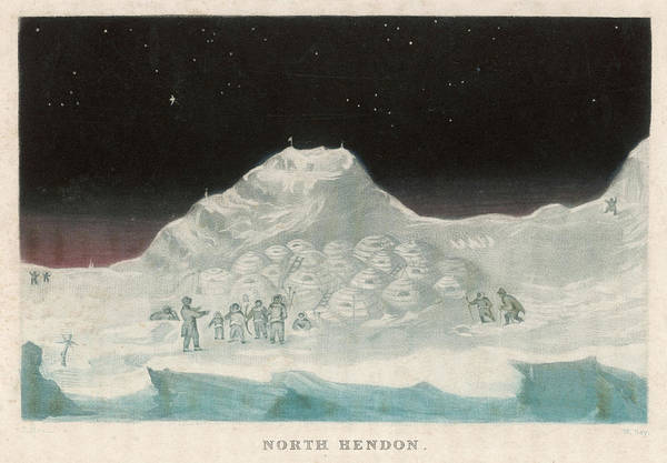 Wall Art - Drawing - John Ross's Arctic Expedition  Snow by Mary Evans Picture Library