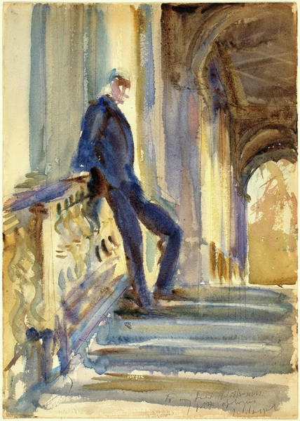 Wall Art - Drawing - John Singer Sargent, Sir Neville Wilkenson On The Steps by Litz Collection