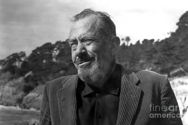 Photograph - John Steinbeck Pebble Beach, Monterey, California 1960 by California Views Archives Mr Pat Hathaway Archives