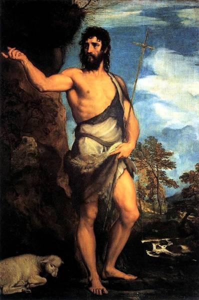 Painting - John The Baptist  by Tiziano Vecellio