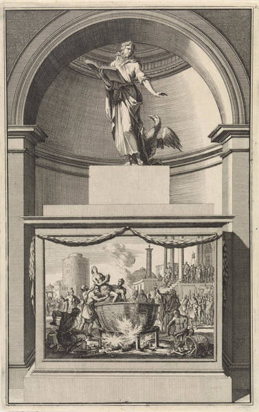 Latina Painting - John The Evangelist, Jan Luyken, Zacharias Chatelain II by Jan Luyken And Zacharias Chatelain (ii) And Jan Goeree