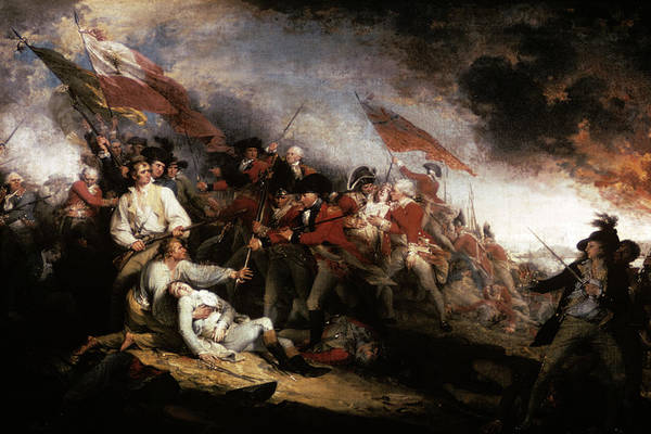 Excitement Painting - John Trumbull Oil Painting Of The Death by Vintage Images