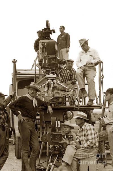 Photograph - John Wayne And Movie Camera Truck Rio Bravo 1959 by California Views Archives Mr Pat Hathaway Archives