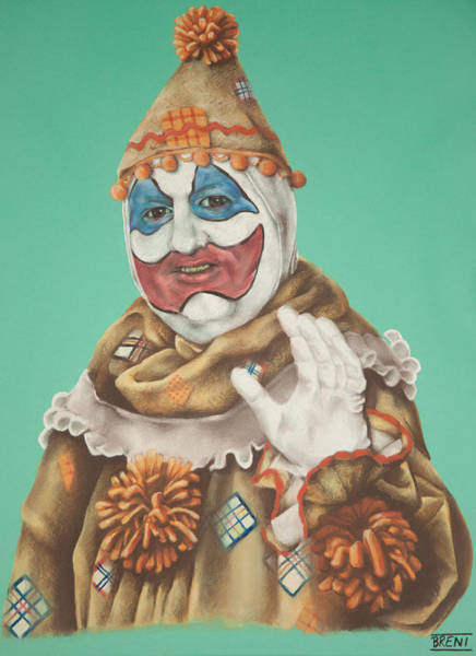 John Wayne Gacy As Pogo The Clown Art Print