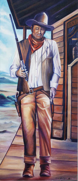 Boot Hill Painting - John Wayne by James Christopher Hill