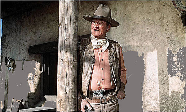Cantina Photograph - John Wayne Publicity Photo Rio Lobo 1970 Old Tucson Arizona  1970-2012 by David Lee Guss