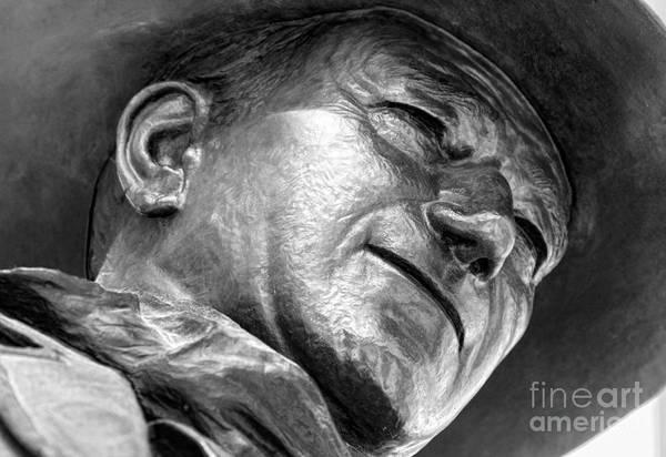 Photograph - John Wayne Statue By Diana Sainz by Diana Raquel Sainz