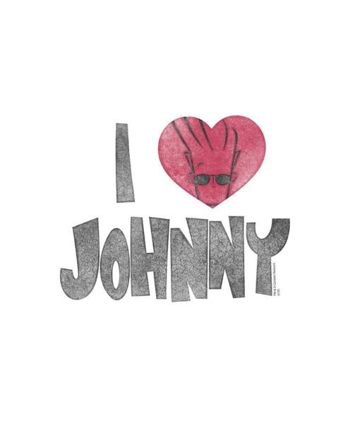 Animated Digital Art - Johnny Bravo - I Heart Johnny by Brand A