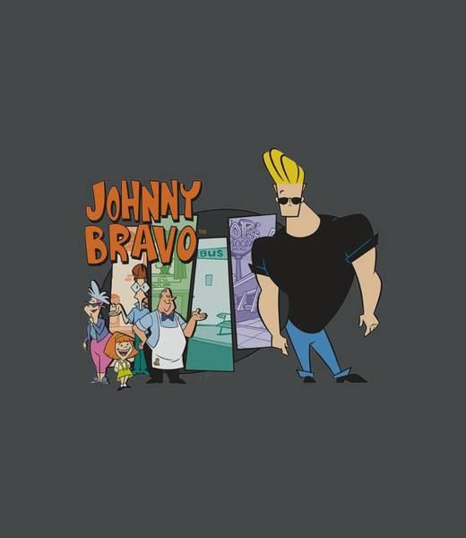 Animated Digital Art - Johnny Bravo - Johnny And Friends by Brand A