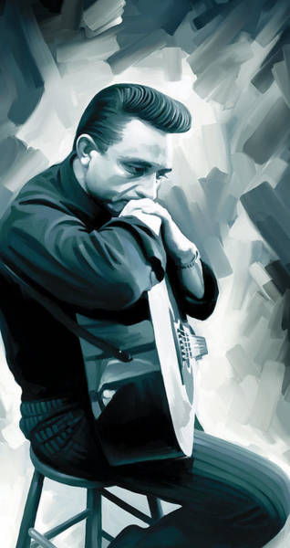 Wall Art - Painting - Johnny Cash Artwork 3 by Sheraz A