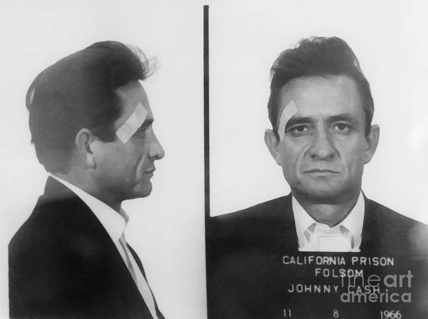 Mixed Media - Johnny Cash Folsom Prison Canvas Print,photographic Print,art Print,framed Print,iphone by David Millenheft