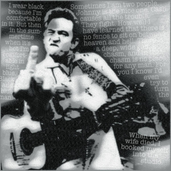 Wall Art - Painting - Johnny Cash Rebel by Tony Rubino