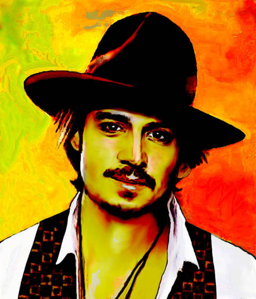Benny Painting - Johnny Depp 5 by Jann Paxton