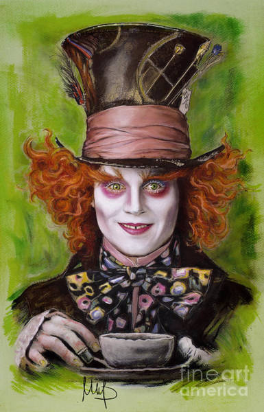 Wall Art - Drawing - Johnny Depp As Mad Hatter by Melanie D