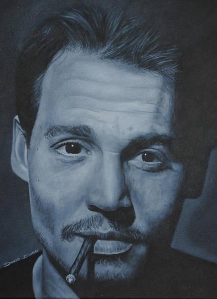 Johnny Depp Painting - Johnny Depp by David Dunne