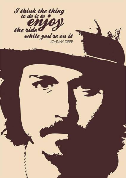 Wall Art - Digital Art - Johnny Depp Minimalist Poster by Lab No 4 - The Quotography Department