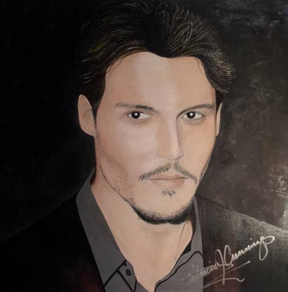 Painting - Johnny Depp - The Actor by Patricia Brewer-Cummings