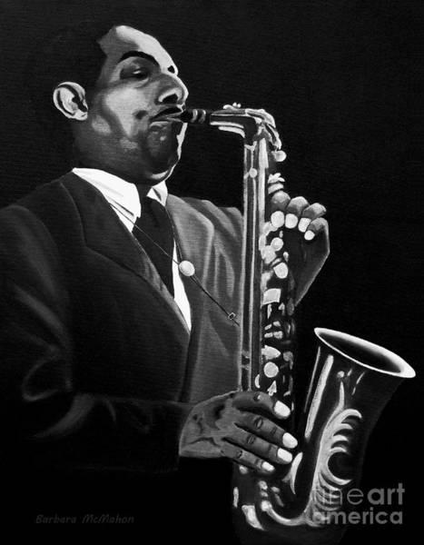 Benny Painting - Johnny Hodges by Barbara McMahon