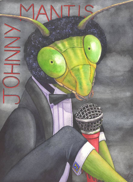 Painting - Johnny Mantis by Catherine G McElroy