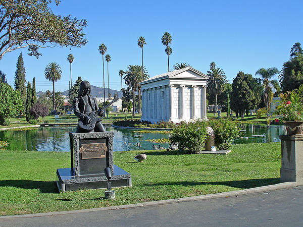 Famous Cemeteries Photograph - Johnny Ramone - Hollywood Forever by Gill Billington