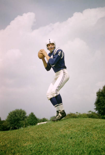 Wall Art - Photograph - Johnny Unitas Set To Throw by Retro Images Archive
