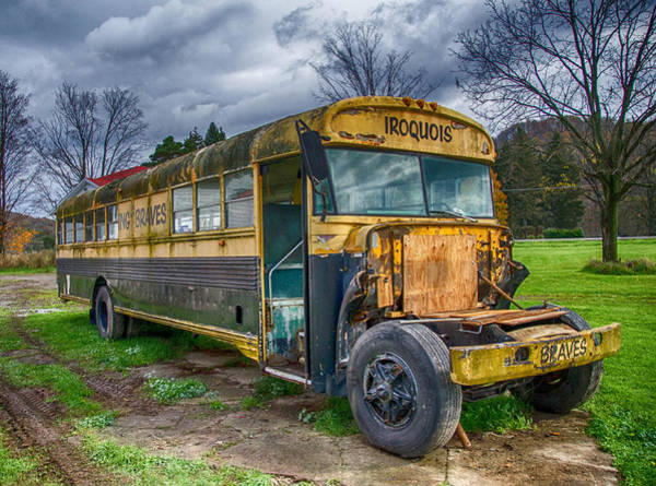 Photograph - Johns Bus  7d07900  by Guy Whiteley