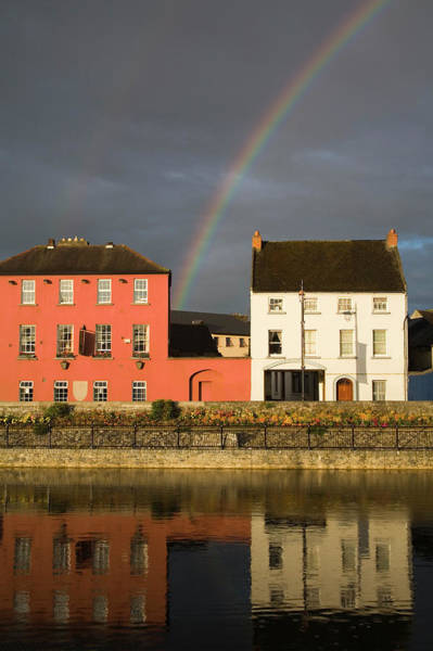 Rainbow Row Photograph - Johns Quay And River Nore by Richard Cummins