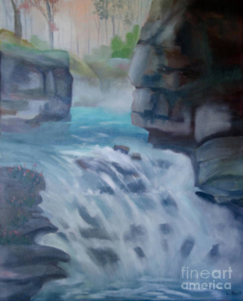 Painting - Johnston Canyon by Laurel Best