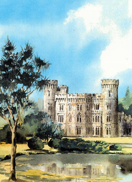 Mixed Media - Wexford Johnstown Castle by Val Byrne