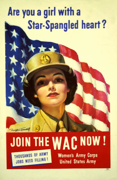Digital Art - Join The Wac Now by Bradshaw Crandell