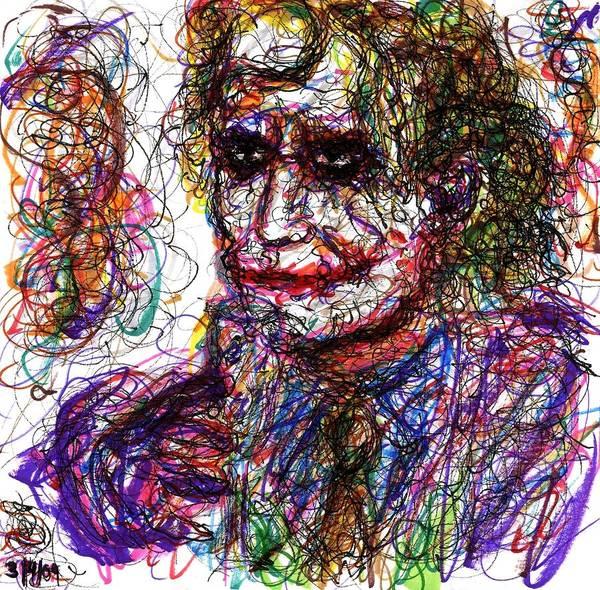 Drawing - Joker - Anarchy by Rachel Scott