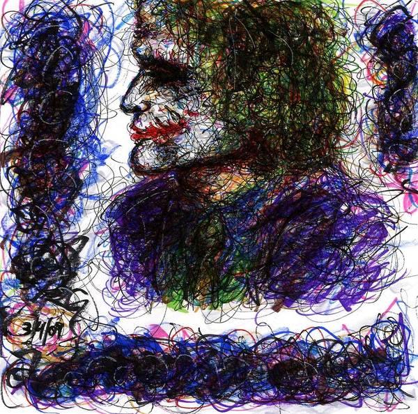 Drawing - Joker - Chaos by Rachel Scott