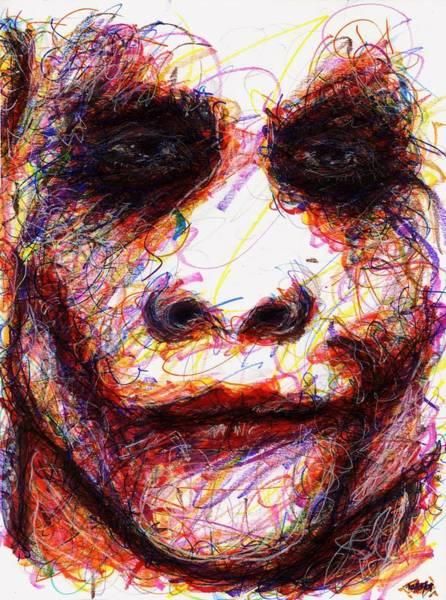 Drawing - Joker - Eyes by Rachel Scott