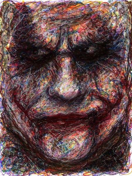 Drawing - Joker - Face I by Rachel Scott