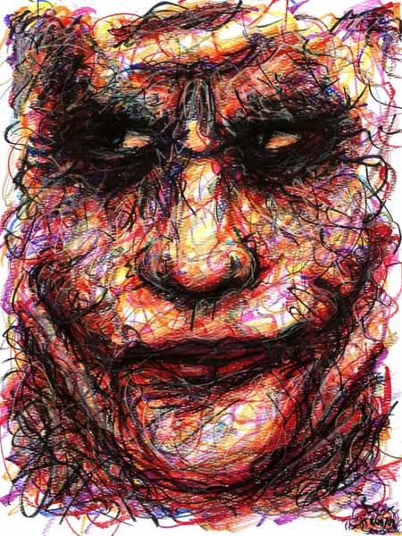 Drawing - Joker - Face II by Rachel Scott
