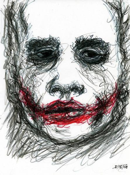 Drawing - Joker - Not All Jokes Are Funny by Rachel Scott