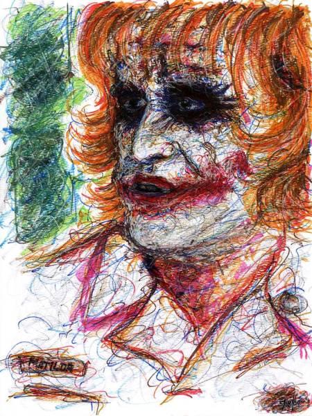 Drawing - Joker - Nurse by Rachel Scott
