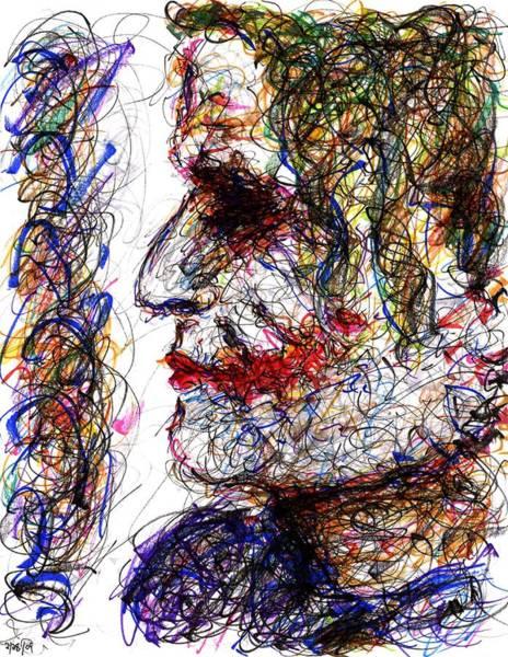 Drawing - Joker - Profile by Rachel Scott