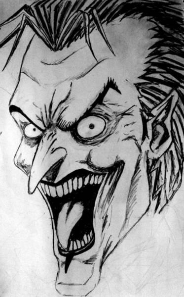 Wall Art - Painting - Joker by Salman Ravish