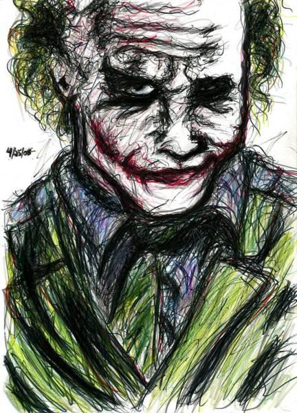 Drawing - Joker - Smirk by Rachel Scott