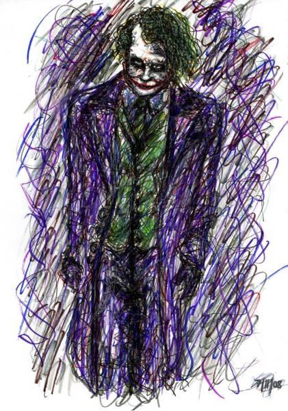 Drawing - Joker - Standing by Rachel Scott