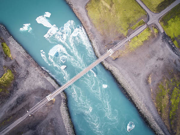 Aerials Photograph - Jokulsarlon by Antonio Carrillo Lopez