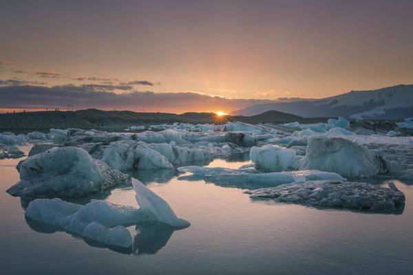 Mark Iv Wall Art - Photograph - Jokulsarlon Glacier Lagoon At Sunset by Nestor Rodan