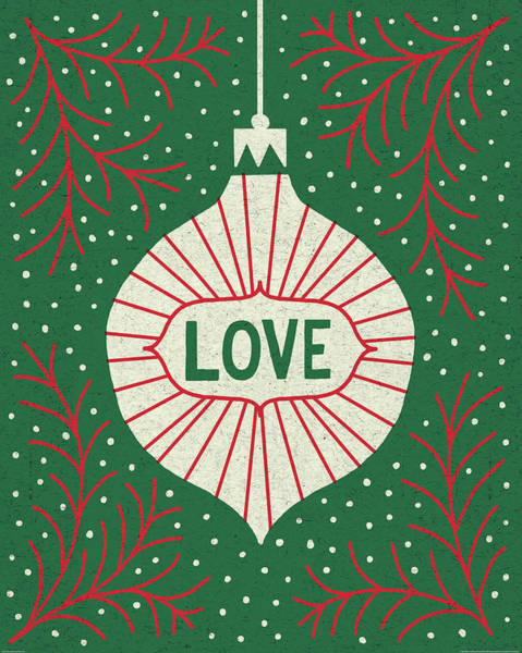 Peace And Love Painting - Jolly Holiday Ornaments Love by Michael Mullan