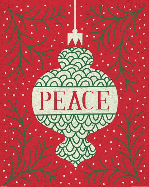 Peace And Love Painting - Jolly Holiday Ornaments Peace by Michael Mullan