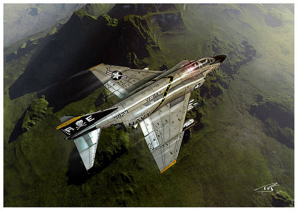 Cockpit Digital Art - Jolly Rogers Phantom by Peter Van Stigt