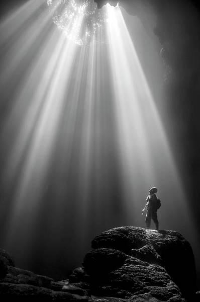 Heavens Photograph - Jomblang Cave by Felix Dharma Yudhi
